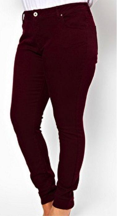 Burgundy supersoft skinny jeans