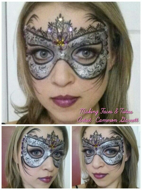 Venetian mask face painting