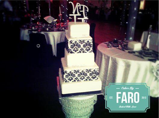 5 Tier Wedding Cake  Damask Rich Cake Carrot
