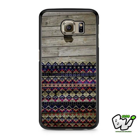 Apple Aztec Wood Samsung Galaxy S7 Edge Case