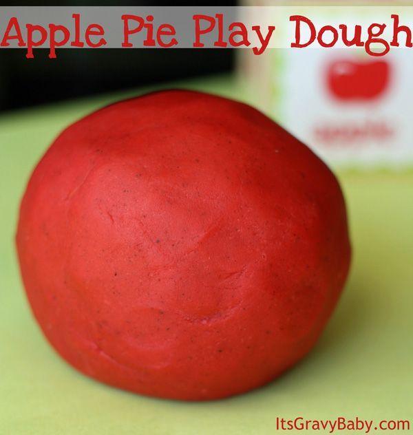 Apple Pie Scented Play Dough #preschool #crafts