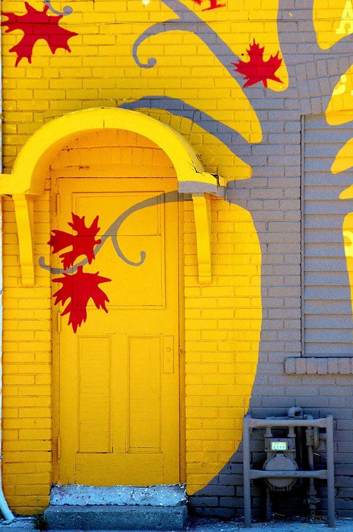 Etonnant trompe l'œil coloré . Toronto . Ontario . Canada .