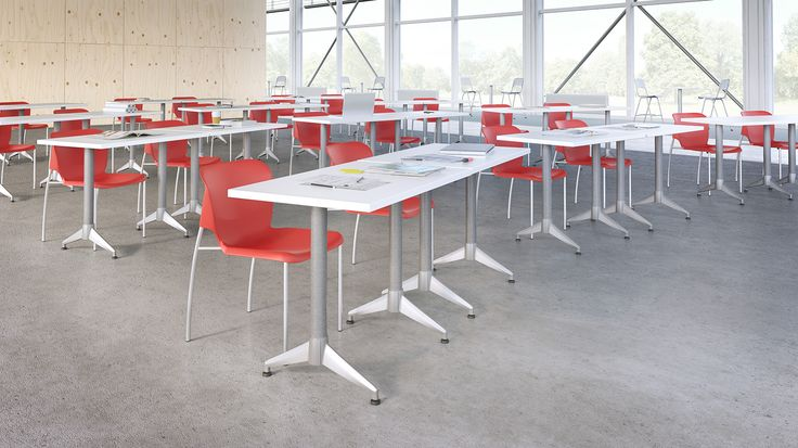 First Office Range Chair With Applause Table And Act Stools With Caf Table Tiered Learning