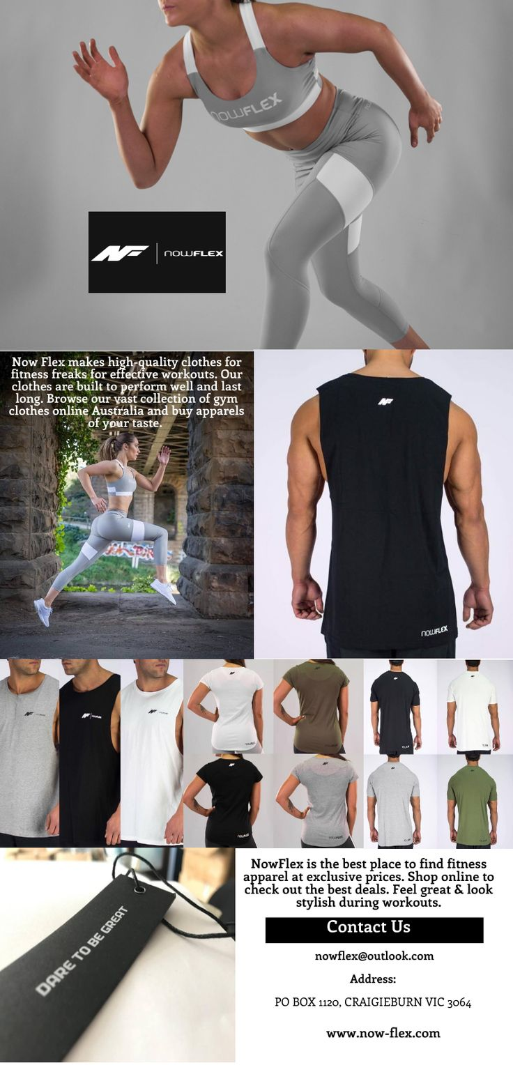 #Now Flex #Fitness #Apparel - Shop #Gym #Clothing Online Store in #Melbourne, #Victoria . Get your today!