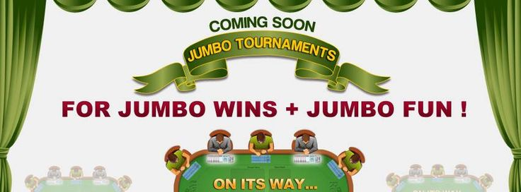 Coming shortly.... New ‪‎Rummy‬ ‪‎Jumbo‬ ‪Tournaments‬ at Classic Rummy  A user friendly interface, simple to play ‪‎games‬ and with several rewards, ‪‎multi table‬ rummy tournaments at ‪‎Classic Rummy  https://www.classicrummy.com/play-rummy?link_name=CR-12