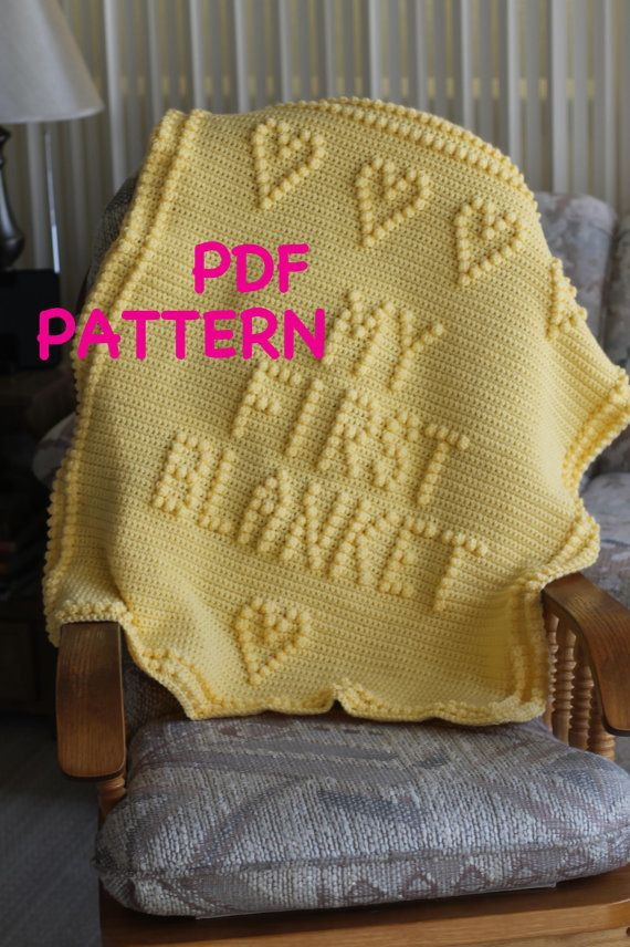PATTERN  Crochet Baby Blanket Pattern by TheBabyCrow