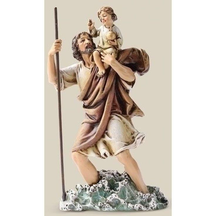 Saint Christopher 6inch Figurine by Joseph's Studio - JOSEPH STUDIOS - Religious Figurines - COLLECTABLES