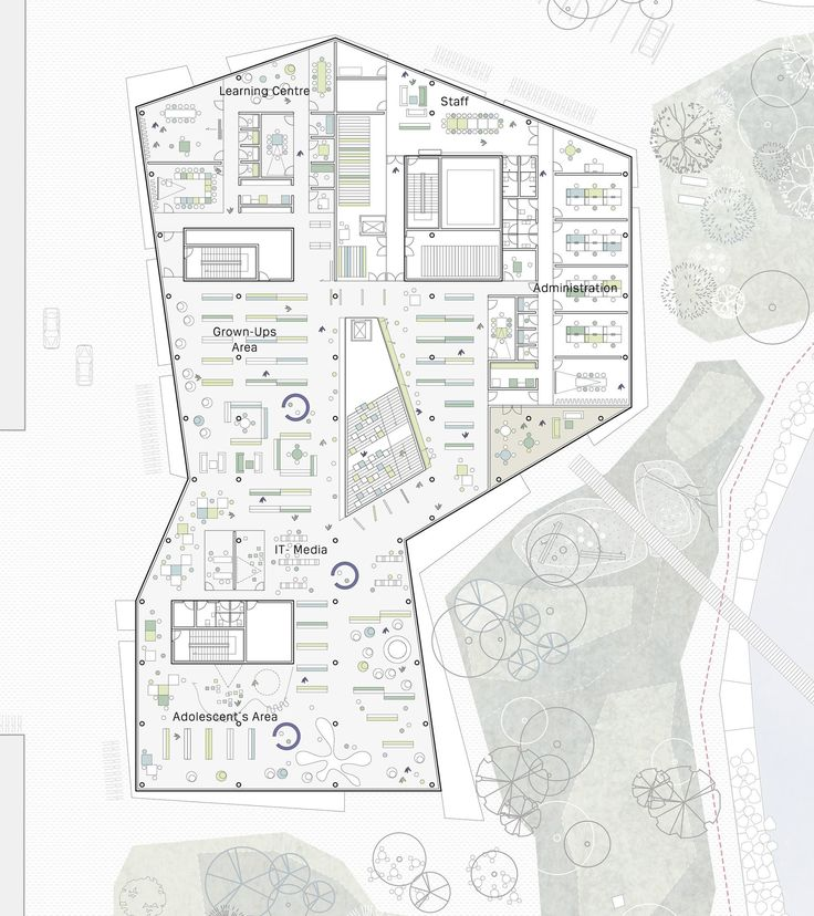 Image 2 of 8 from gallery of New Culture Centre and Library Winning Proposal / schmidt hammer lassen architects. level 01 floor plan