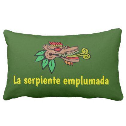 La serpiente emplumada lumbar pillow - home gifts ideas decor special unique custom individual customized individualized