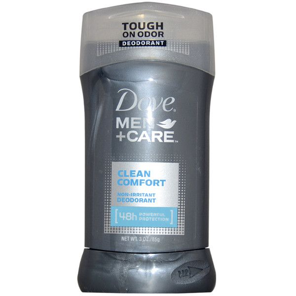 Dove Men + Care Clean Comfort Non-Irritant Men's Deodorant Stick ($10) ❤ liked on Polyvore featuring men's fashion, men's grooming and men's deodorant