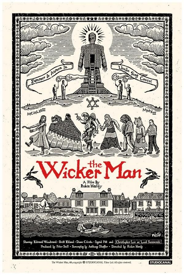 Weirdly apt faux rural Olde England style imagining for memorably creepy, The Wicker Man.