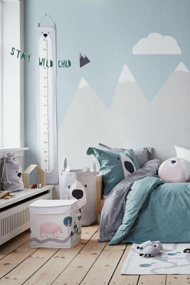 AFFILIATELINK  Gemusterte Bettwäsche   Mattgrün/Bär   H&M HOME   Hskandinavisch, Design, Minimalistisch, Einrichtung, Deko, schlichte, Wanddeko, …