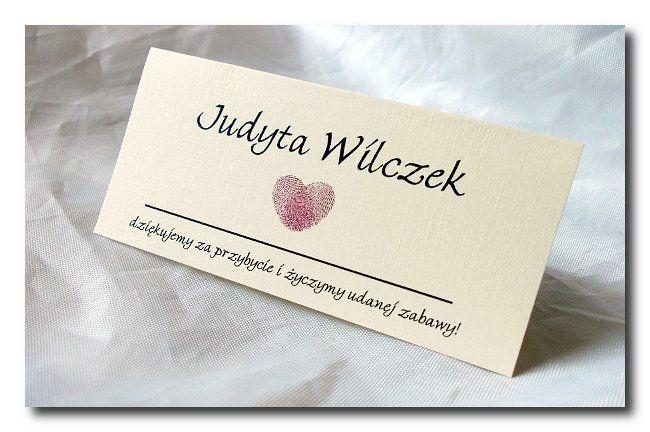 Winietki Hearts - Winietki / Dodatki Ślubne - Vision-Art