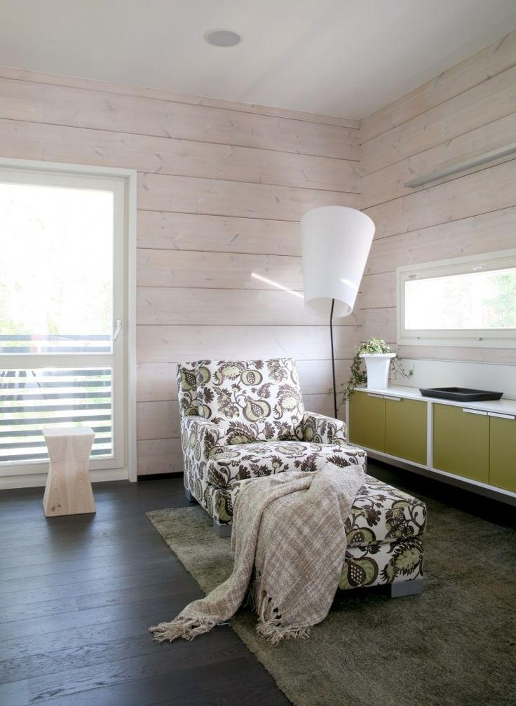 Honka Blockhaus Modell Rock Wohnzimmer