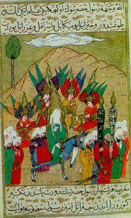 Batılı bir minyatür sanatkarının fırçası ile Mesih Paşa komutasında 1480 Rodos Kuşatması Üstad Osman'ın fırçası ile II. Beyazid'i...