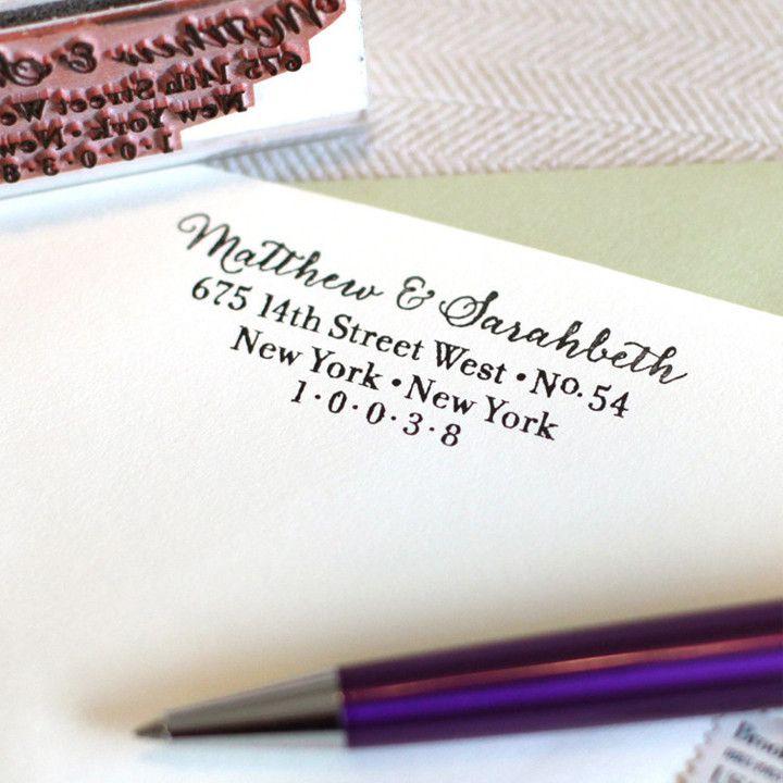 Calligraphy Return Address Stamp – The Chatty Press