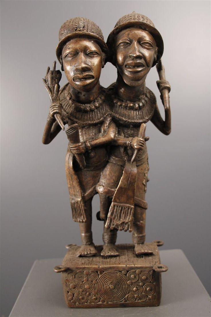 Couple nains de cour Bini Edo - Bénin