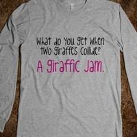 a pun and giraffes. perfect.