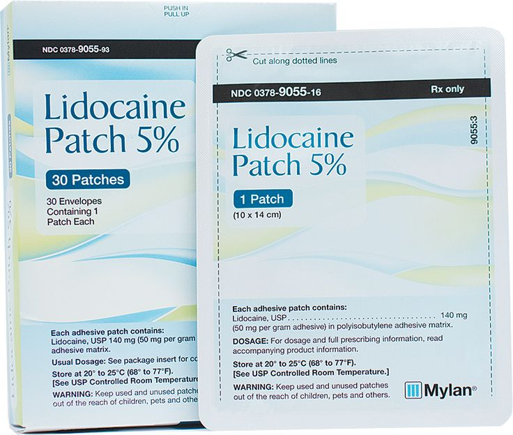 Lidocaine patches for pain