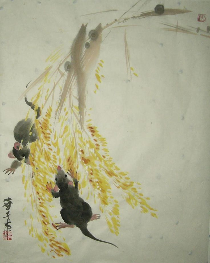 Simon Chan's Art Year of Rat 2008 Chinese art painting