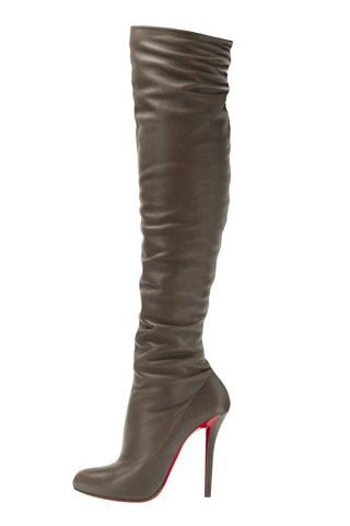 Christian Louboutin High Heeled Taupe Boots Fall 2014. LOVE LOUBOUTINS!!!