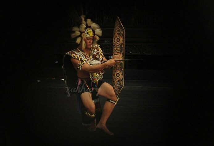 Dayak Warrior's Dance, Borneo, Indonesia