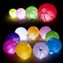 10pcs / lot lámparas linterna de papel chinas 20cm ronda boda linterna de papel ( 8