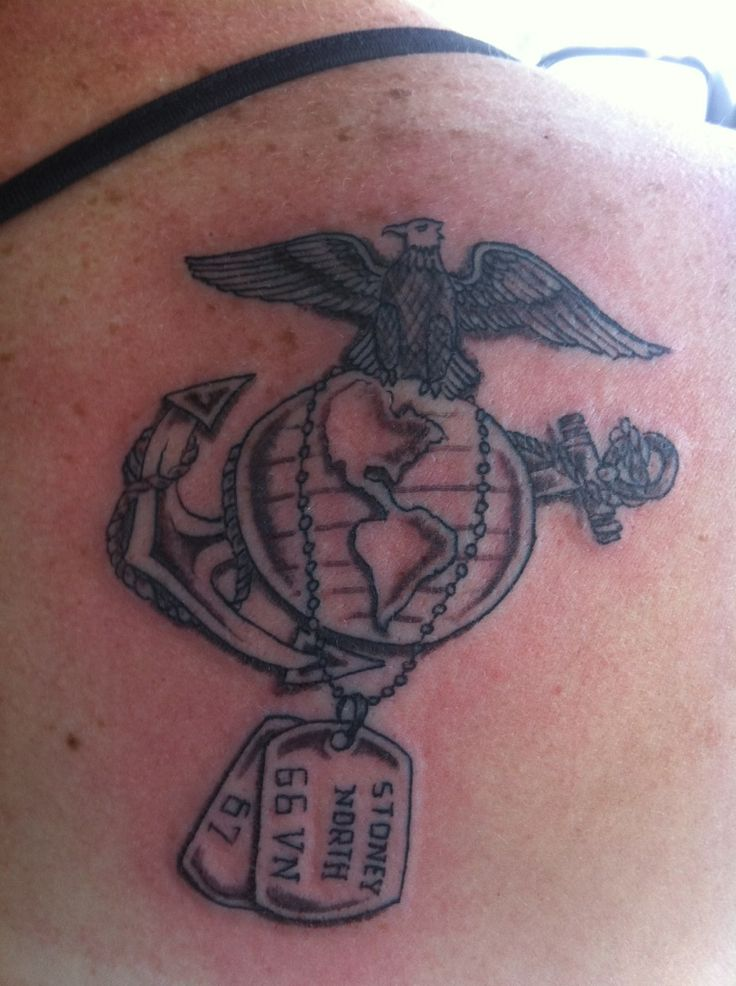 dog tag and usmc tattoos | In Memory of Stoney North | Marine Corps Tattoos | Sgt. Grit
