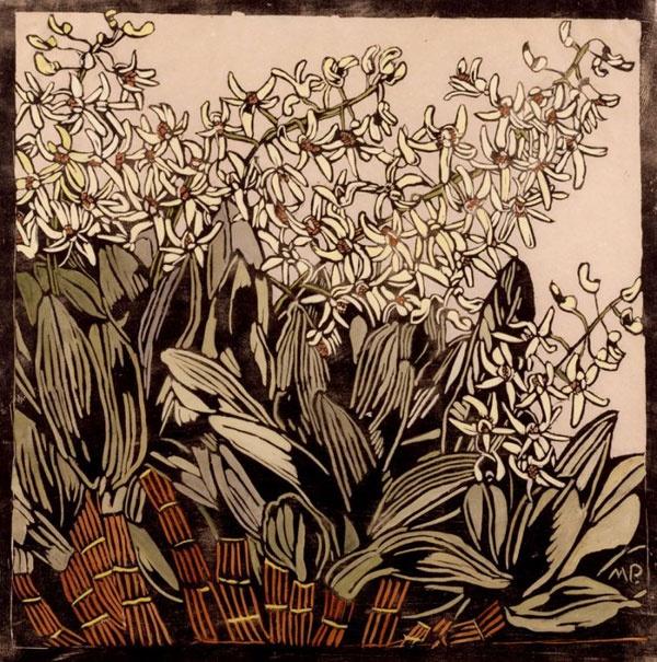 Dendrobium Orchids, Artist Margaret Preston