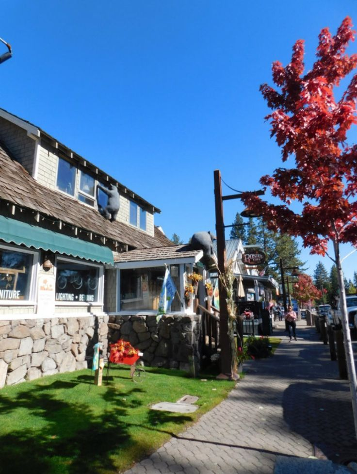 Wandering Tahoe City in Lake Tahoe during Month Twenty Eight of Digital Nomad Life. Click through to find out what a month in the life of a Digital Nomad in the U.S. looks like - including highlights, lowlights and exact costs. | The World on my Necklace #digitalnomad #digitalnomadlife #travelrecap #fall #fallcolors #fallfoliage #laketahoe #california #tahoecity