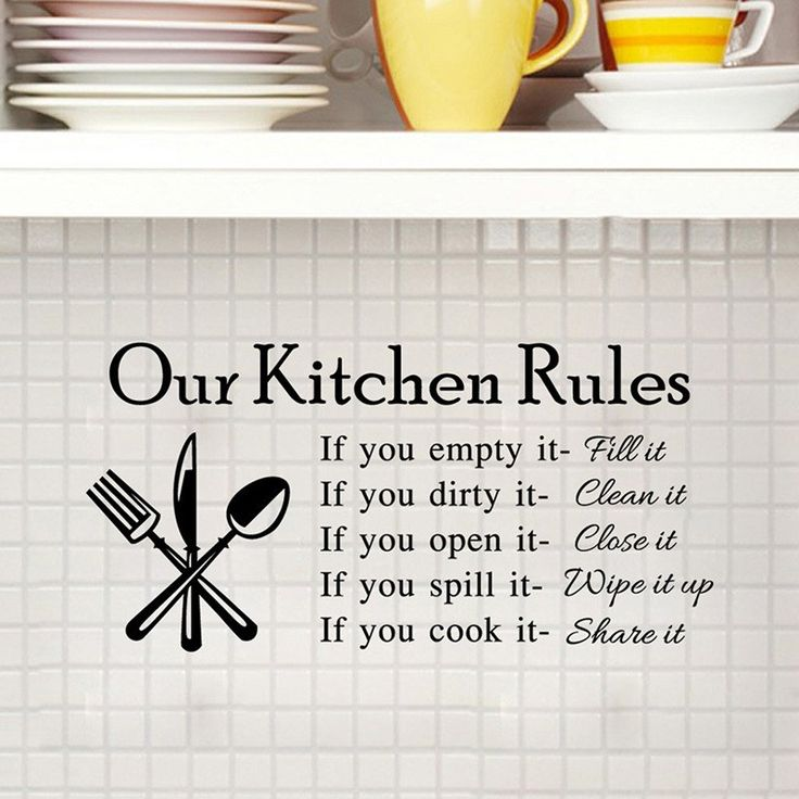 1000+ Ideas About Kitchen Rules On Pinterest