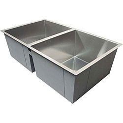 Ticor Undermount Stainless Steel 16 Gauge Square Kitchen Sink By Ticor