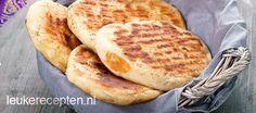 Heerlijk zelfgemaakt naanbrood, lekker bij Indiase curry gerechten of als tussendoortje
