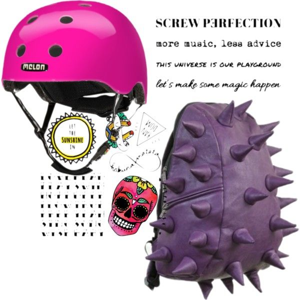 Urban girl in pink #temporarytatoo #rider #helmet #melonhelmet #madpax #purple #pink #badass #cool #urban