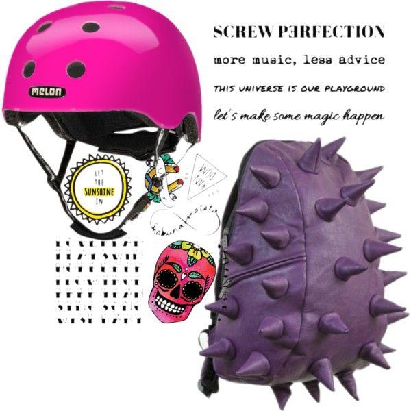 Urban girl in pink #temporarytatoo #rider #helmet #melonhelmet #madpax #purple #pink #badass #cool #urban