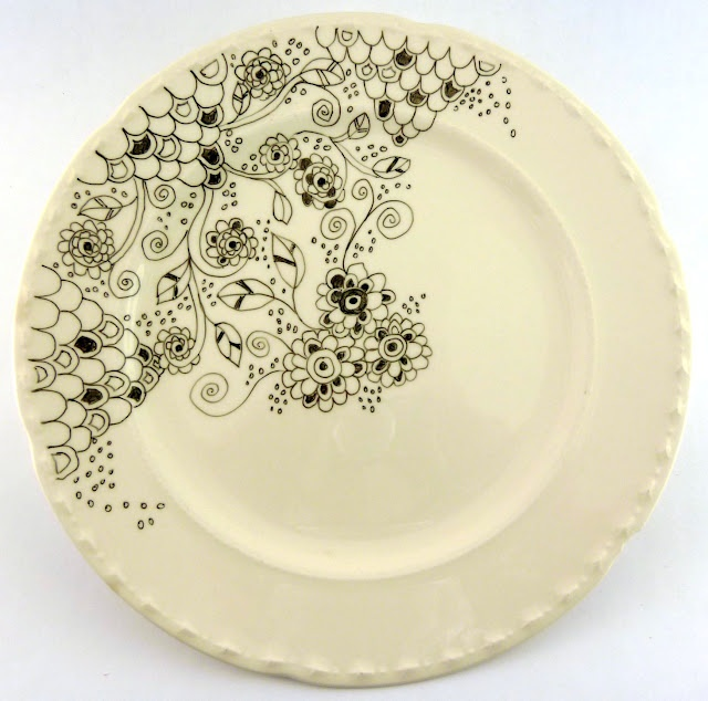 want to do!! - use special porcelain drawing pens to decorate old china