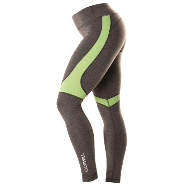 Melange Insert Tights Dame - Grey / Green Superstretchy tights med rå passform og god høyde på livet som gjør at tightsen sitter godt på under hele treningen. Om du skulle ønske er det mulig å rulle ned midjen og fjerne snoren. Passer til de aller fleste treningsformer.