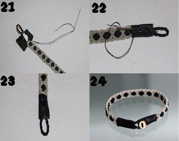 Como hacer pulseras tejidas paso a paso6