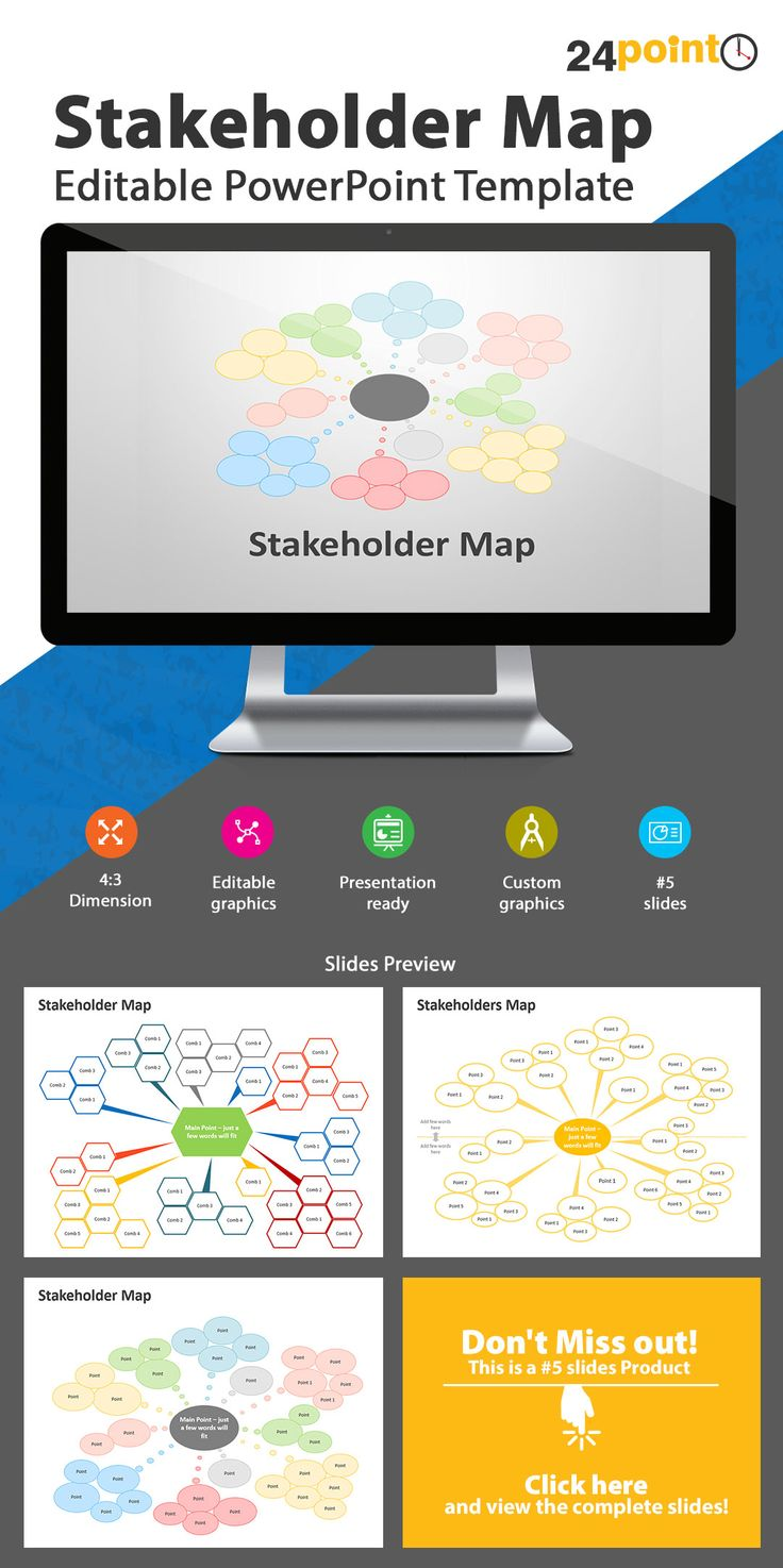 Stakeholder Map: Editable PowerPoint Templates | Business