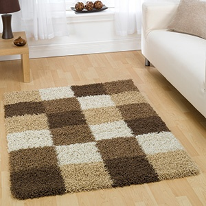 the andes brown beige shaggy rug has a luxurious heatset 100 pile and originates