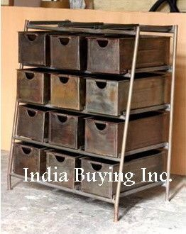 Vintage Furniture Industrial Furniture Indian Arts Home Decor - asian - buffets and sideboards - India Buying Inc.