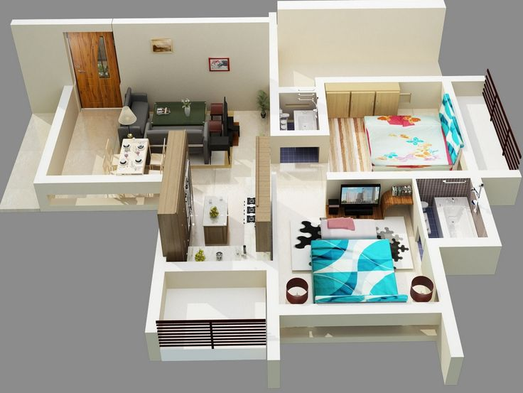 Beautiful Free 3D Floor Plan... Free Lay Out Design For Your House Or