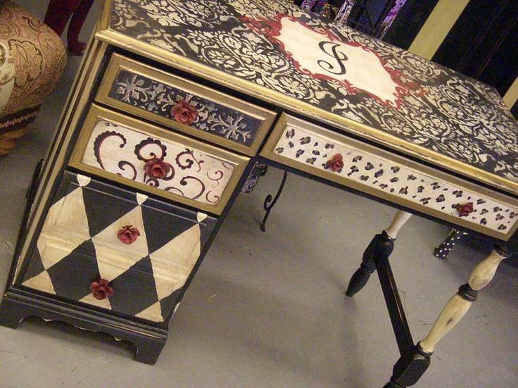 Desk I Love 80s : Ideas about painted desks on pinterest chalk paint