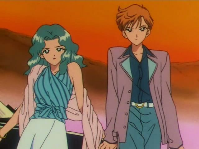 海王みちる(セーラーネプチューン)&天王はるか(セーラーウラヌス) Michiru Kaioh (Sailor Neptune) and Haruka tenoh (Sailor Uranus) - Sailor Moon screencaps