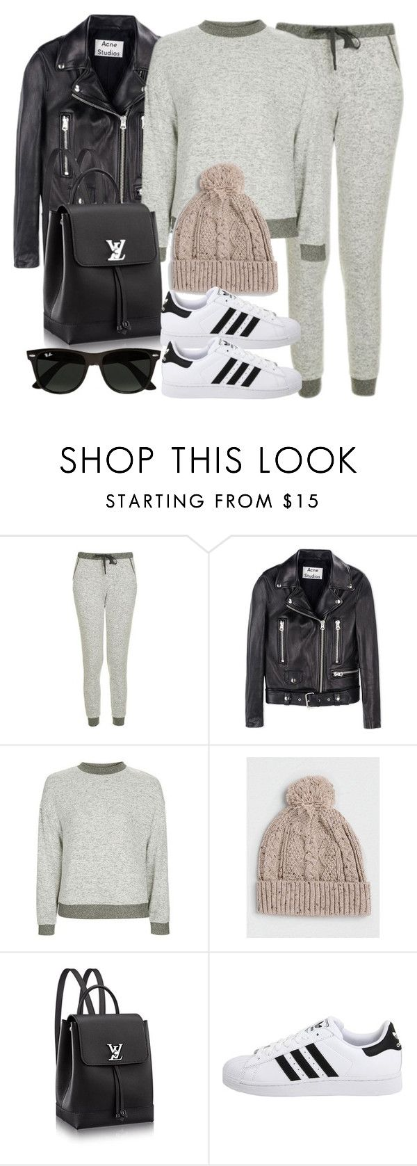 """Style #11628"" by vany-alvarado ❤ liked on Polyvore featuring Topshop, Acne Studios, Topman, adidas Originals and Ray-Ban"
