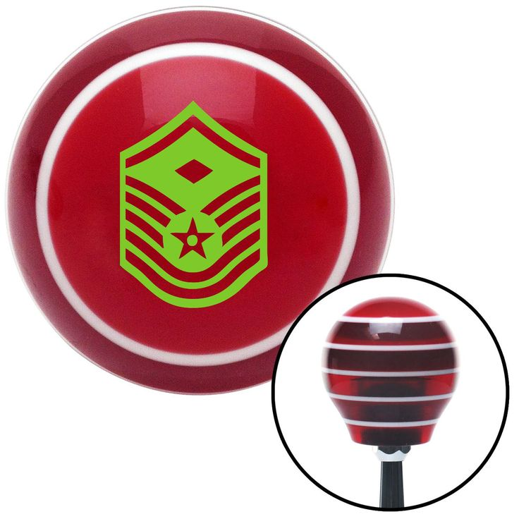 Green Master Sergeant First Sergeant Red Stripe Shift Knob with M16 x 15 Insert - Give your interior the ultimate look. American Shifter's Elite(TM) series shift knobs are made from the highest quality components resulting in a superior feel on every shift. Each shift knob is designed and customized in the USA by skilled shift knob artisans who have a trained eye on every detail. American Shifters shift knobs offers an exclusive aluminum threaded insert designed to be screwed onto your shift…