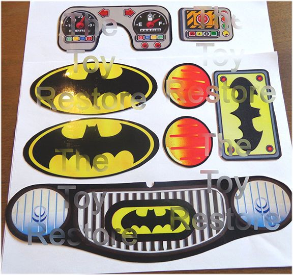 New Replacement Decals Stickers for Little Tikes Cozy Coupe Car Batman