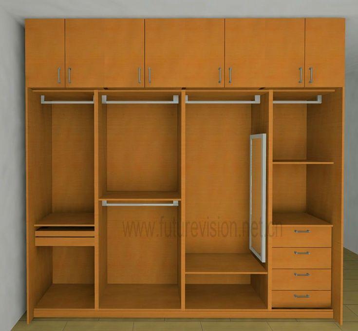 modern bedroom clothes cabinet wardrobe design el