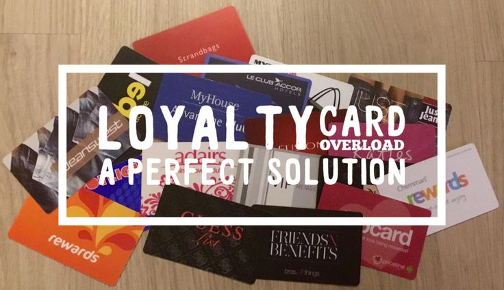 Are you like me and have a ton of Loyalty Cards for all your favourite stores. I had to buy a card wallet for all of mine and I still didn't have enough space in it to hold all of them!