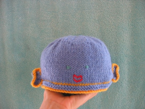 Fish hat beanie soft pure wool children's by HotScones on Etsy, $29.00